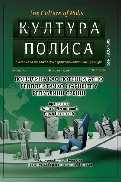 Војводина као потенцијално геополитичко жариште у Србији – Култура полиса (2018), посебно издање